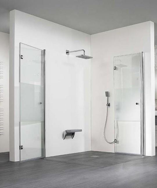 Barrierefreie-Dusche mit Dreh-Falttüren