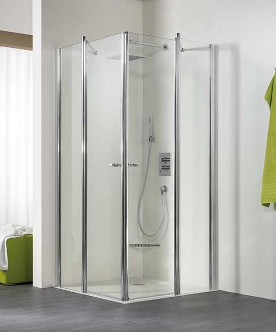 Eck-Dusche mit zwei Türen