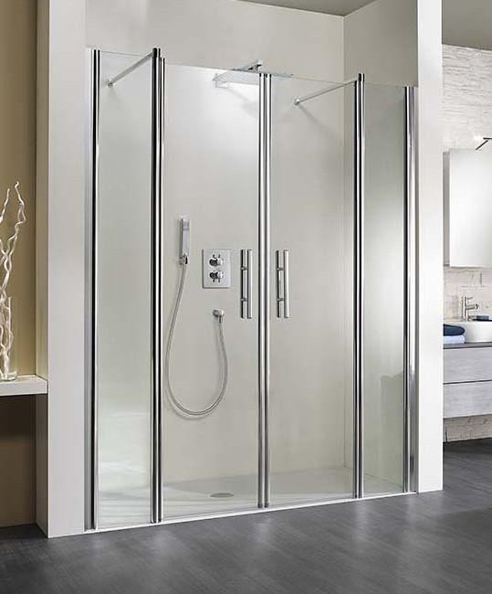 Front-Dusche mit Pendeltüren