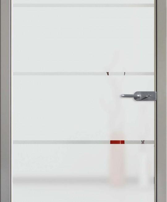Sandstrahl Glastüre mit Motiv Sand 18