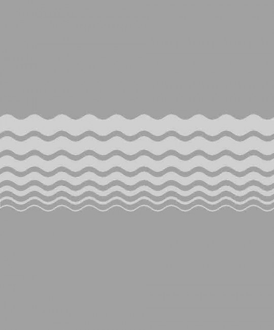 Sandstrahlmotiv 8 mit Wellenstreifen