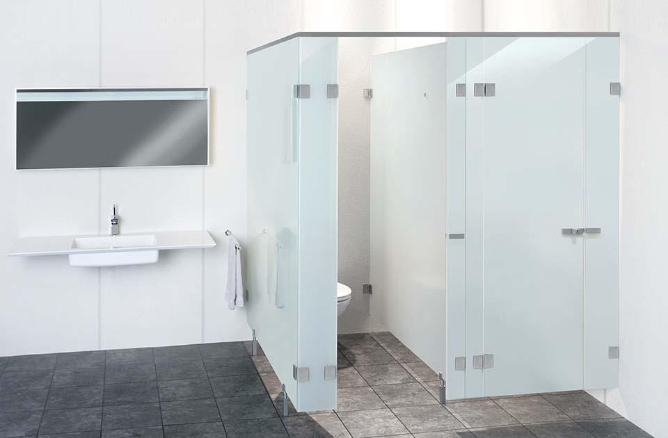 WC-Trennwaende aus glas