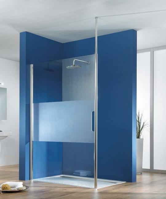 Walk-In-Dusche als Trennwand