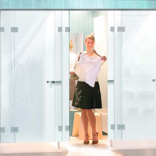 Umkleidekabinen aus Glas blickdicht