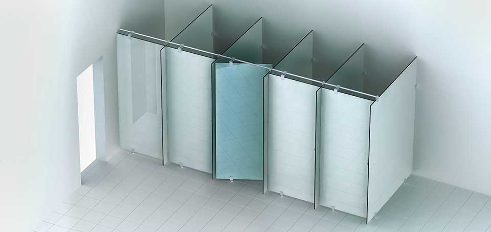 astec s.200 WC-Trennwand Ausführung